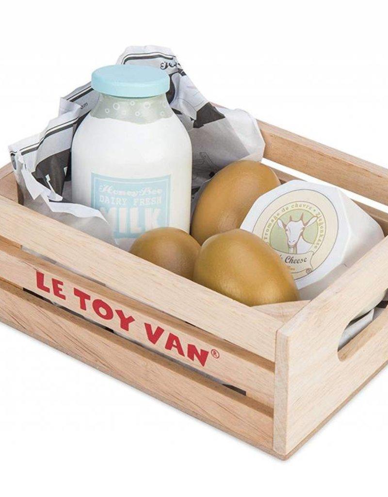Le Toy Van Eggs & Dairy Crate