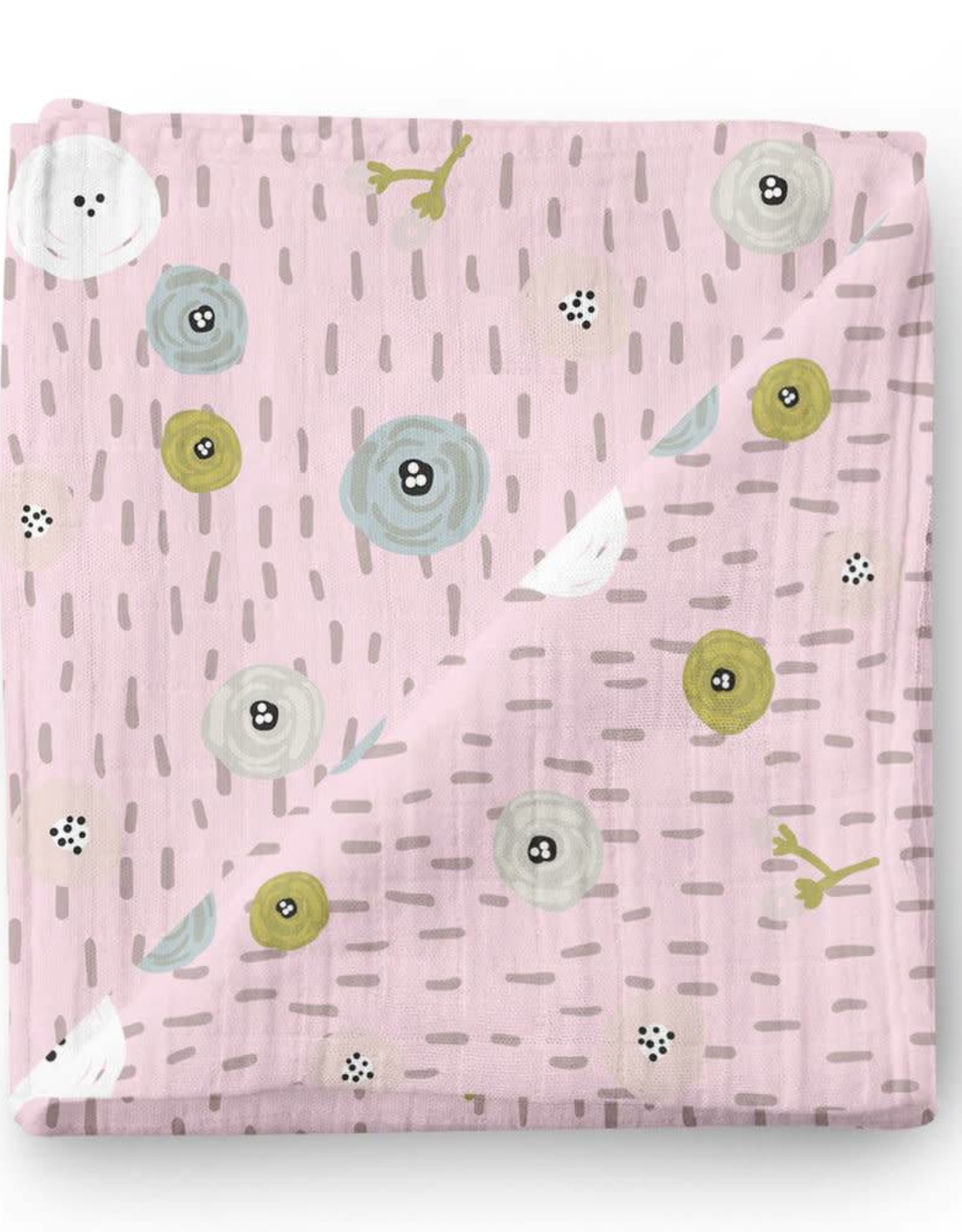 Olé Hop Bamboo blanket - Flower buttons