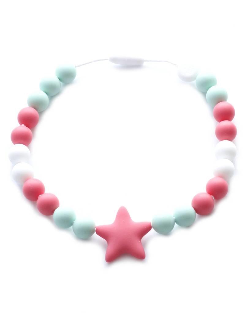 Bulle bijouterie Collier pour enfant - Layla - Menthe, corail et blanc