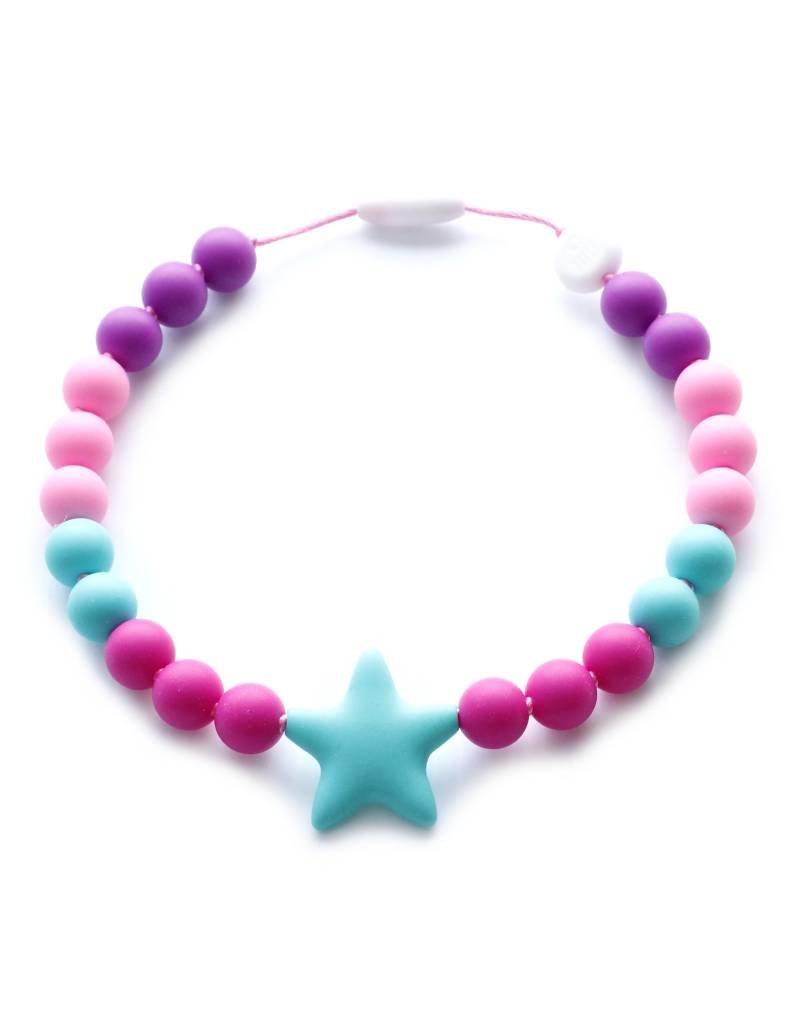 Bulle bijouterie Collier pour enfant - Océanne - Mauve, rose et turquoise