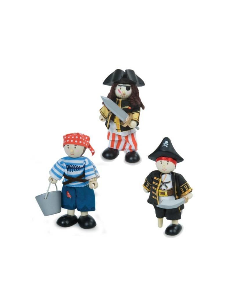 Le Toy Van Ensemble de personnage en bois - Pirates & Moussaillon