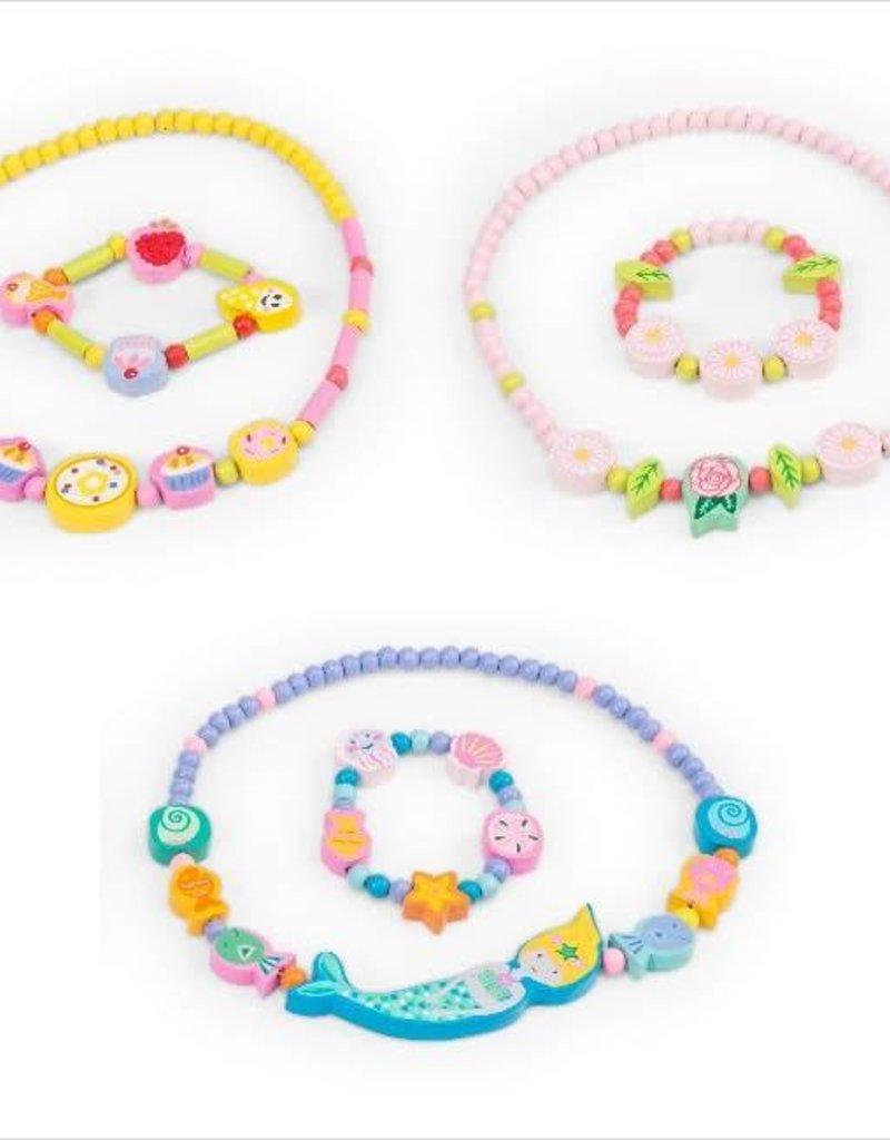 Le Toy Van Ensemble collier et bracelet - Fleur rose