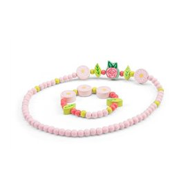 Le Toy Van Ensemble collier et bracelet - Fleur rose