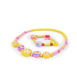 Le Toy Van Ensemble collier et bracelet Jaune - Petits gâteaux