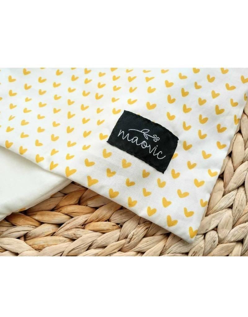 maovic Pillow for babies - Organic Buckwheat - gold heart