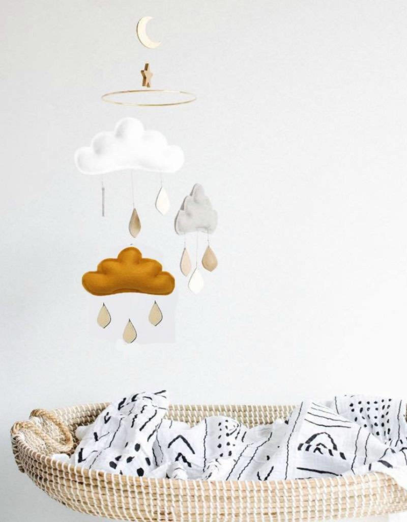The Butter Flying Mobile nuages et gouttes de pluie - Ocre Paris