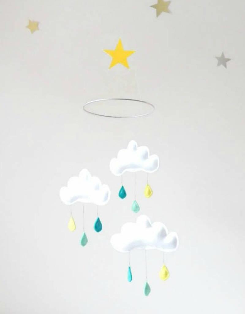 The Butter Flying Mobile nuages et gouttes de pluie - Arthur