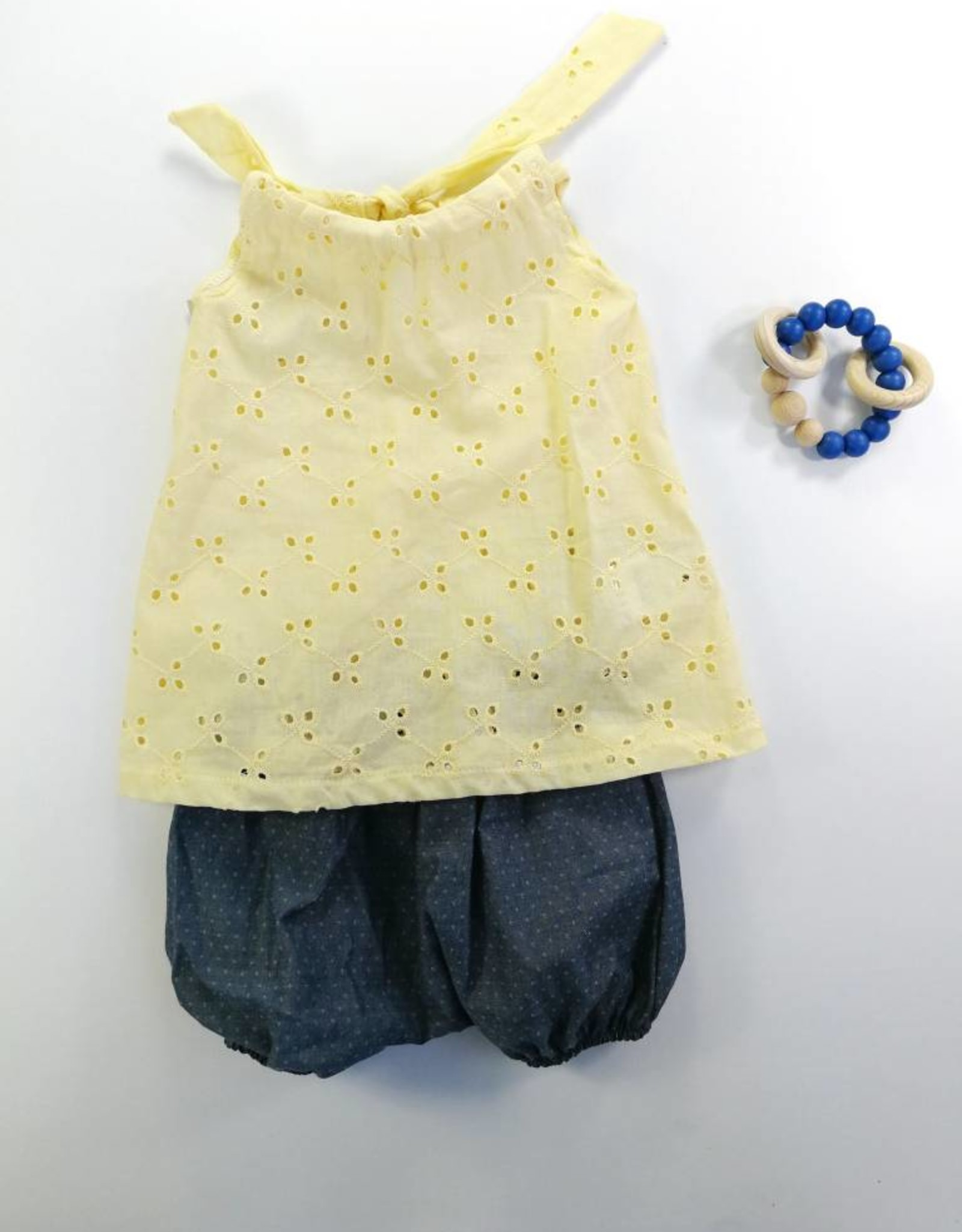 Mamie & Cie Yellow Top And Bloomer Set
