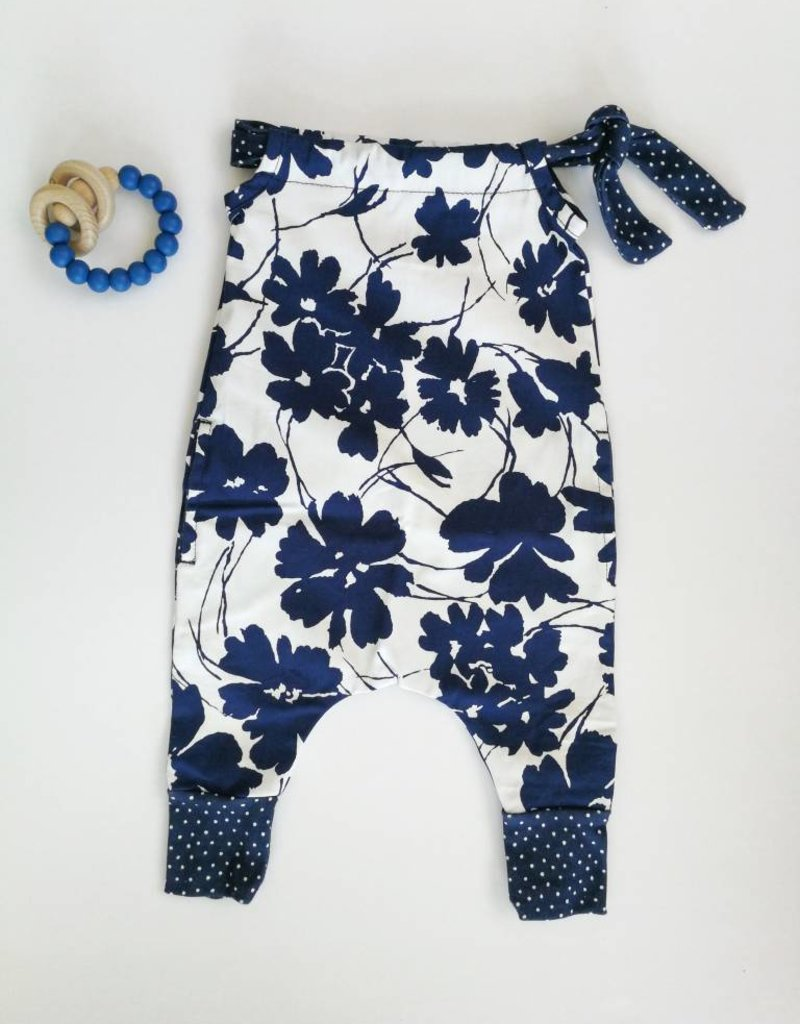 mamie & cie Romper - Bleu fleuri