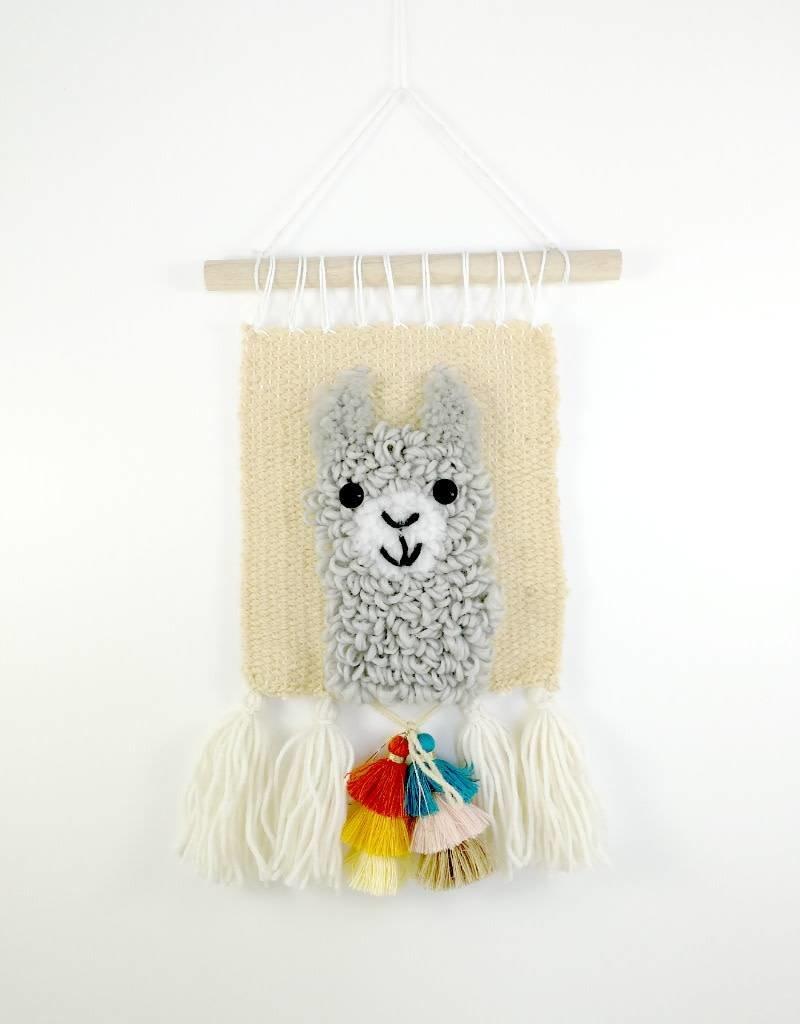 Sarah Tissage mural - Lama gris