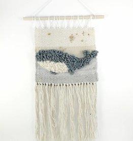 Sarah Tissage mural - Baleine