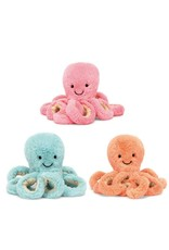 Jelly Cat Octopus Baby Soft Toy - Turquoise