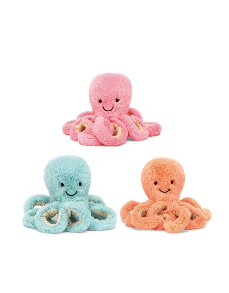 Jelly Cat Octopus Baby Plush - Pink