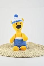 Fondation Marie-Vincent Marvin - Culotte et bonnet en laine bleue