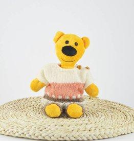 Fondation Marie-Vincent Marvin - Chandail en laine beige et corail et pantalon