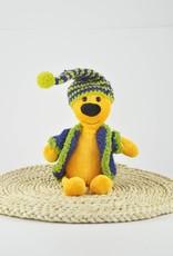Fondation Marie-Vincent Marvin - Veste et bonnet en laine vert et bleu