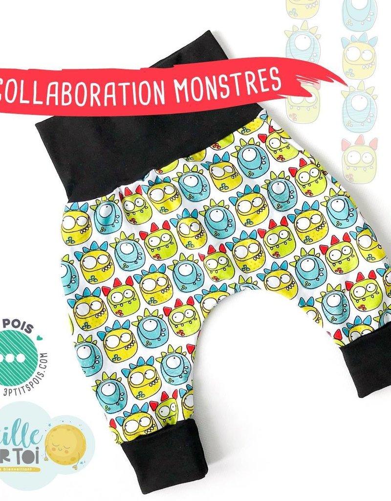 3 p'tits pois Pré-Commande Pantalon monstre