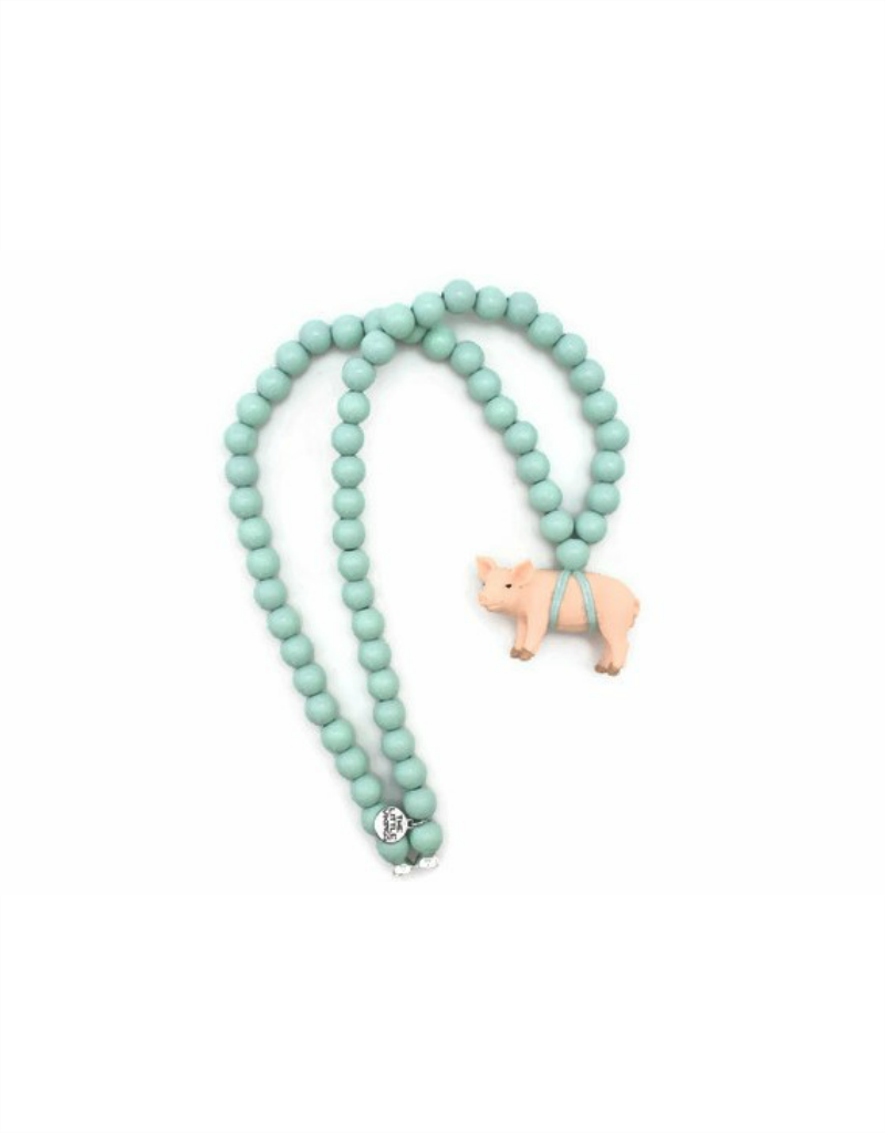 Wild Child Collier en bois menthe - Cochon