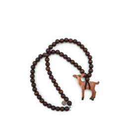 Wild Child Collier en bois brun - Faon