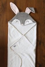 babilles et babioles Sortie de bain pour bébé - Lapin douillet- Petit