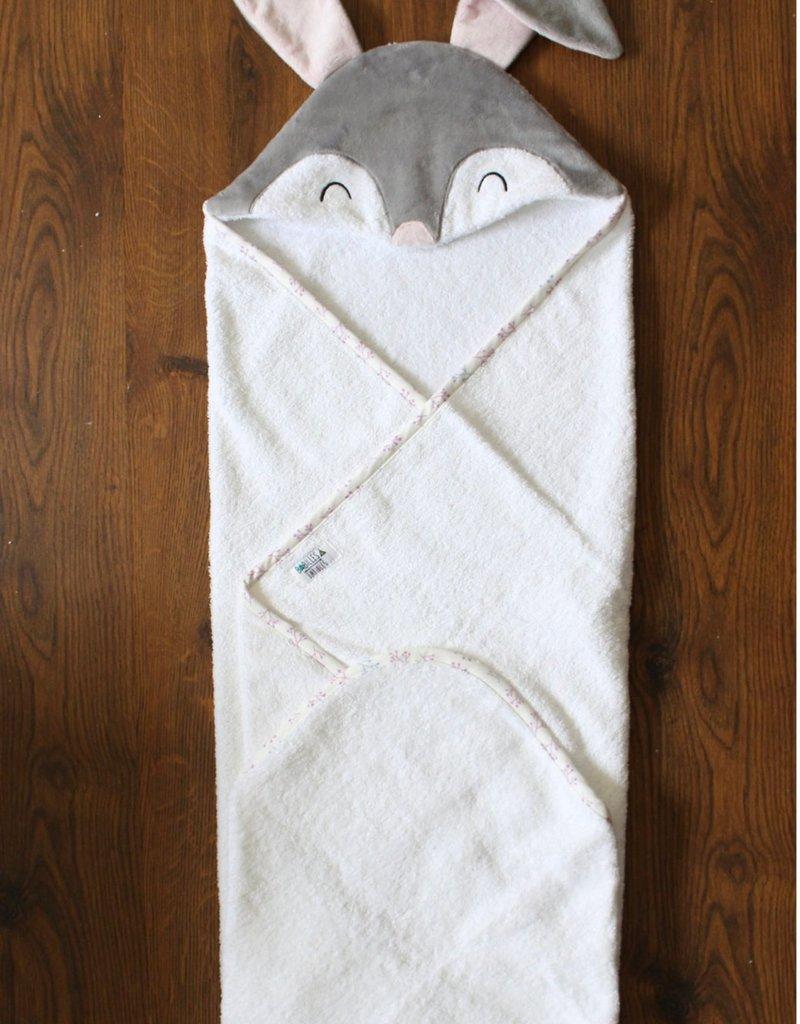 babilles et babioles Sortie de bain pour bébé - Lapin douillet - Grand