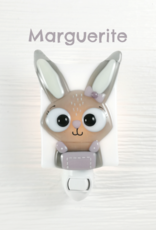 Veille sur toi Doudou Marguerite - Lapin angora rose antique