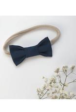 Mlle Léonie Bandeau boucle papillon - bleu marin
