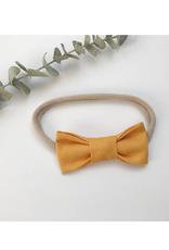 Mlle Léonie Bandeau boucle papillon - jaune moutarde