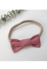Mlle Léonie bow tie headband - vintage pink