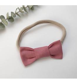 Mlle Léonie Bandeau boucle papillon - rose vintage