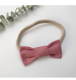 Mlle Léonie bow tie headband - vintage pink