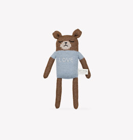"Main sauvage Peluche ourson ""Love"" Bleu"