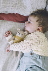 """Main sauvage Peluche ourson """"Peace"""" Jaune moutarde"""