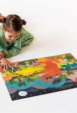 Petit Collage Casse-tête de sol - Dinosaures 3+