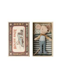 Maileg Little brother mouse in a matchbox