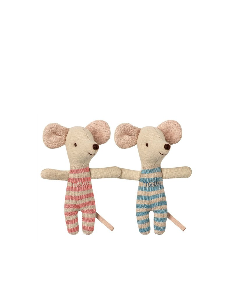 Maileg Baby Mice - Twins in a matchbox - Blue
