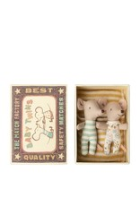 Maileg Baby Mice - Twins in a matchbox - Yellow