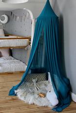 babilles et babioles Ciel de lit - Bleu paon - Livraison incluse