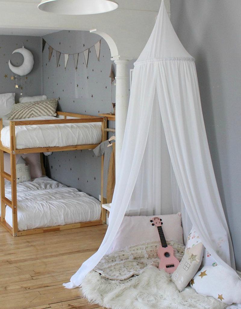 babilles et babioles Bed sky - White