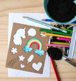 Atelier Rue Tabaga Seed paper + Unicorn stencil