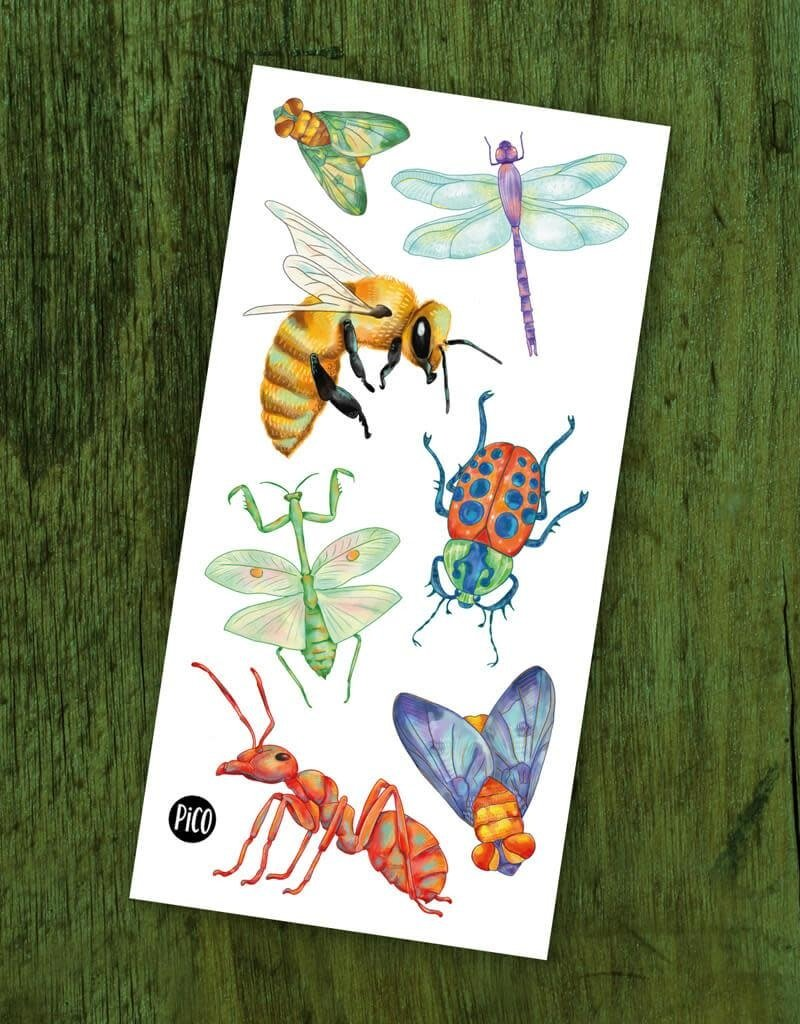 Pico Temporary tattoos - Insects