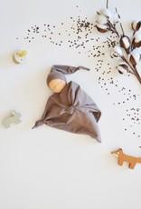 Comfrey & Clary Baby lovey waldorf - Organic bamboo jersey - Chocolate brown