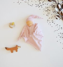 Comfrey & Clary Baby lovey waldorf - Organic bamboo jersey - Pink and white