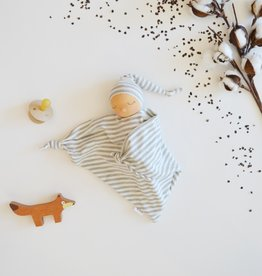 Comfrey & Clary Baby lovey waldorf - Organic bamboo jersey - Grey and white