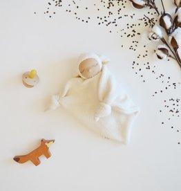 Comfrey & Clary Baby lovey waldorf - Sherpa whool - peach ears