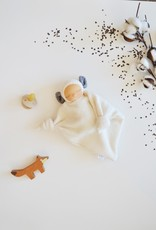 Comfrey & Clary Baby lovey waldorf - Sherpa whool - Grey ears