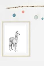 Le nid atelier Illustration - Bébé Alpaga