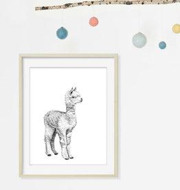 Le nid atelier Illustration - Baby Alpaca