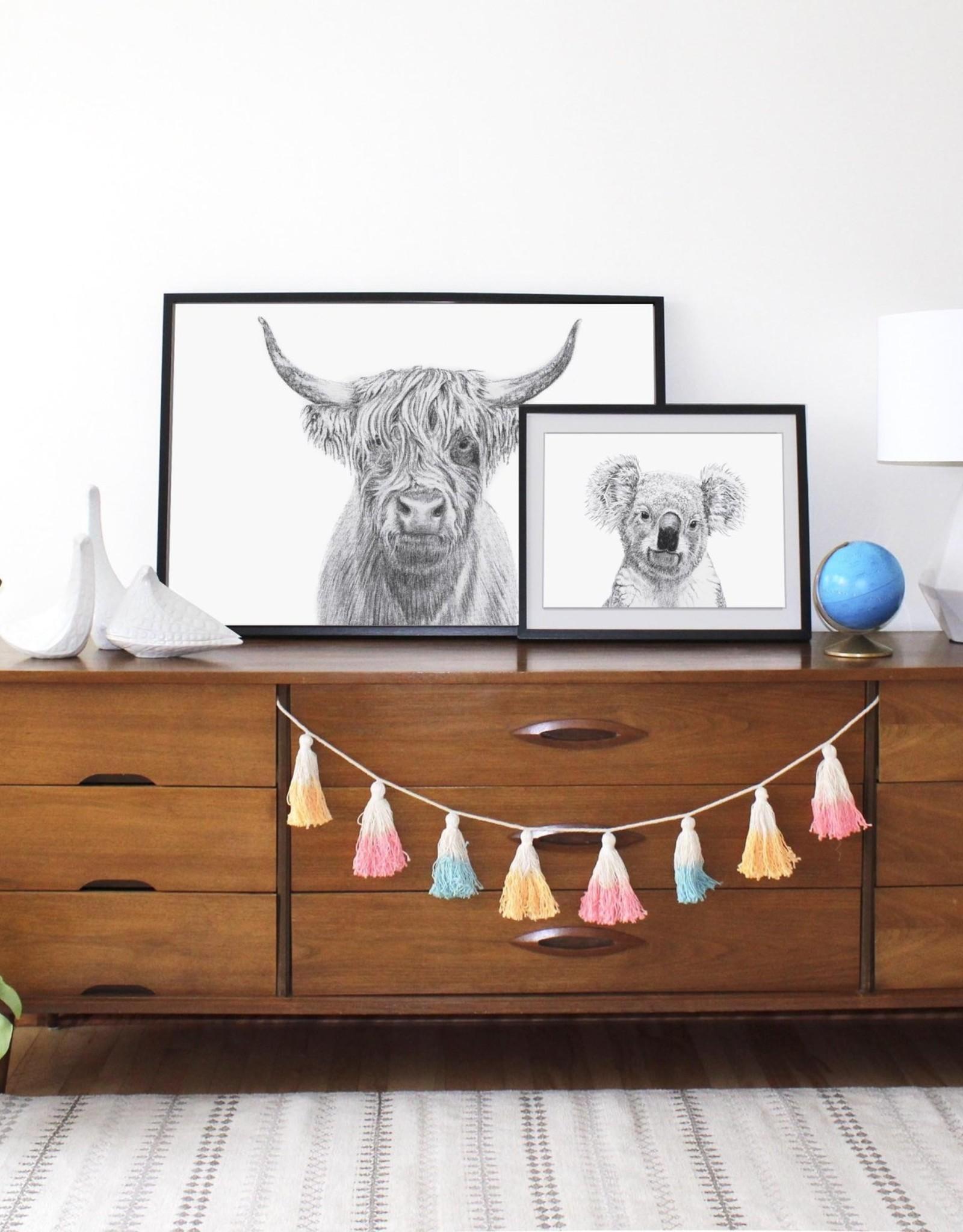 Le nid atelier Illustration - Highland Cow