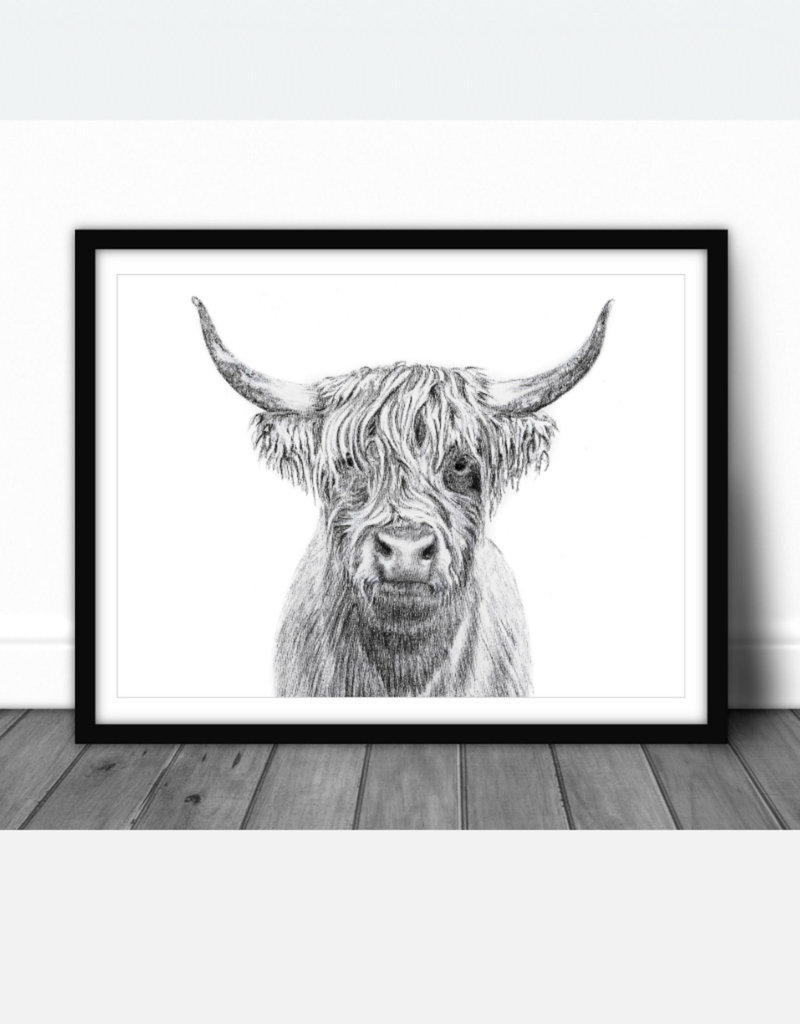 Le nid atelier Illustration - Highland Cow